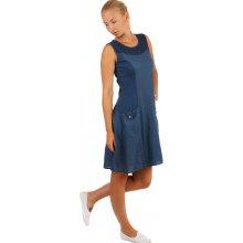 1e7274c9d5de Dámské plážové bavlněné šaty 329578 tmavě modrá