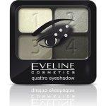 Eveline Quattro oční stíny 3 variace šedé 5,2 g