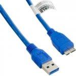 4World 08967 USB 3.0 AM-Micro BM 5m, modrý