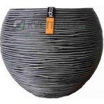Capital Nature Rib Ball Black II 13x13x11cm