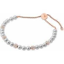 Michael Kors náramek imitation pearl rose gold tone MKJ6294