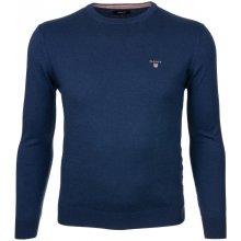 Gant Pánský svetr s příměsí vlny modrý