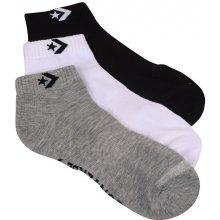 Converse Balení 3ks ponožek SKARPETY Men 3-pak Mid grey mel White grey Black 8cd6456fe1