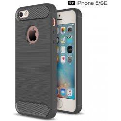 Pouzdro Silikonové Carbon Brushed Apple iPhone SE 5 a 5S Graphite  Silikonové či obal Apple iPhone SE 5 a 5S Graphite f35f1f69140