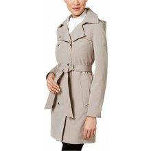 Calvin Klein nude voděodolný trenčkot kabát s kapucí a opaskem