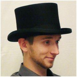 895947ad0b2 Karnevalový kostým Černý cylindr anglický pánský klobouk 100 % vlna Mes  85019