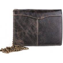 ITALSKÉ Kožená peněženka Italská hnědá VS-8360
