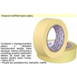 zakrývací krepová samolepicí páska 19mm x 50m