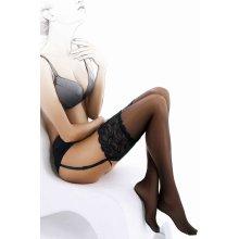Gatta Venus Punčochy na podvazkový pás Nero černé