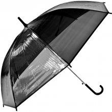 Průhledný deštníkčerný