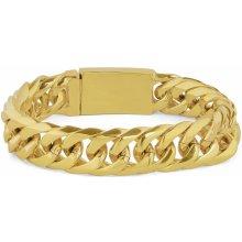 Trendhim Robustní náramek Chunky ve zlaté barvě Z0-6-11287