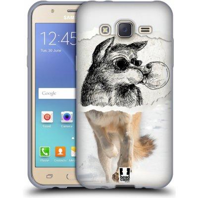 Pouzdro HEAD CASE Samsung Galaxy J5, J500, (J5 DUOS) vzor zvířata koláž vlk pohodář