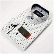 Bílá pánská Košile dlouhý rukáv vypasovaný střih Native 120001 359a407029