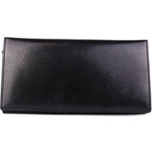 ITALSKÉ Černá kožená peněženka z Itálie levná R005 nero