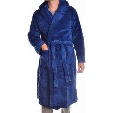 pánský župan s kapucí (FK-2521) modrý