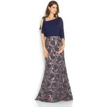 Společenské šaty se zdobením na sukni Jora Mireya tmavě modrá e7eb28dfe6
