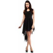 1575a9ae83d Dámské společenské šaty s asymetrickou sukní černá