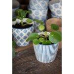 IB LAURSEN Květník Casablanca blue Typ D, modrá barva, keramika 9cmx8cm
