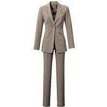 Kalhotový kostým (2dílná) hnědošedý