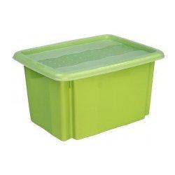 abf4e3006 Plastový svět Colours Plastový box zelený s víkem 15 l 38 x 28,5 x ...