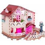 HM Studio 3D Puzzle Chatka pro panenky / led 114 dílků