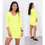 bd9846fd6ea Kesi šaty s knoflíky na rukávech Basemath neonově žlutá