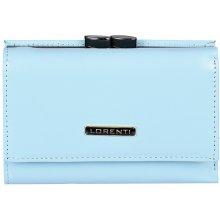 Lorenti Dámská elegantní italská kožená peněženka modrá 55282 NIC L.BLUE