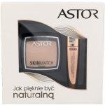 Astor Lash Beautifier Volume Mascara With Argan Oil 10 ml + Skin Match Powder 100 Ivory 800 Black 7 g dárková sada