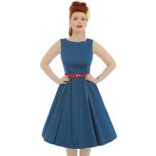 4f1af056526 Lindy Bop retro dámské šaty Audrey navy blue