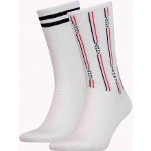 Tommy Hilfiger 2 pack pánských ponožek Denim The Ace White