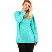 436c6359f60 YooY Dámský oversized svetr i pro plnoštíhlé zelená