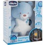 Chicco Medvídek modrý s noční lampičkou a melodiemi