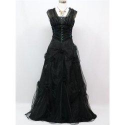 večerní plesové šaty princezny s přehozem na maturitní ples Černé ... 7b08e8e62d