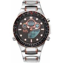 Meister Anker Worldtimer Solar Chronometr bicolor