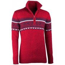 34e1940b51c Červený pánský svetr norský vzor Assante 51023