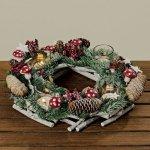Vánoční adventní věnec BOLTZE, na 4 svíčky, průměr 33 cm