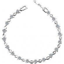 Náramek Vicca ALICE se zářivými zirkony rhodiovaný kov OI_341110_silvery