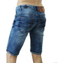 M. SARA kalhoty pánské KR786 kraťasy jeans