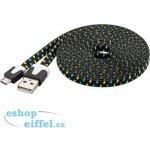 PremiumCord ku2m2ft1 micro USB 2.0, A-B, 2m, černo-modro-žlutý