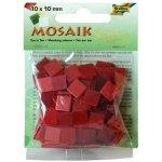 Folia Mozaika plastová 10x10 mm Červená