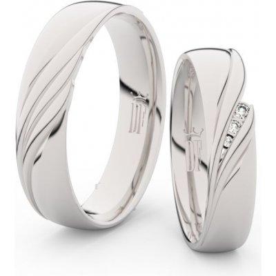 Snubní prsteny s brilianty pár 3044
