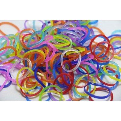 Rainbow Loom original gumičky transparentní mix 600 ks