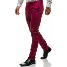 Bolf Vínové pánské chino kalhoty 6807