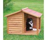 Dřevěná bouda s terasou