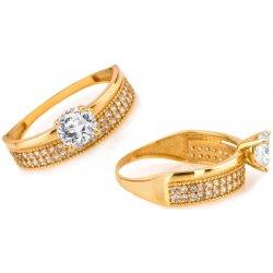 Zlatý zásnubní prsten Tiffany IZ6812 alternativy - Heureka.cz b84260116ce
