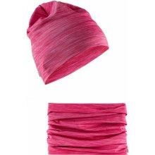 01fbf190e3b Craft Craft Melange High čepice + nákrčník růžová 720200