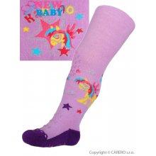 New Baby bavlněné punčocháčky 3xABS fialové karino