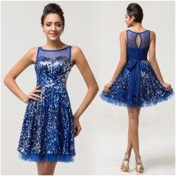 66185f1c37da Tmavě modré koktejlové šaty s flitry alternativy - Heureka.cz