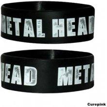silikonový náramek Metal Head černý WR67008 CurePink