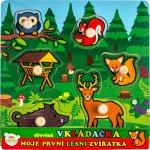 Teddies vkládačka dřevěná Moje první lesní zvířátka 6 ks